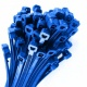 0-002-12 Pack of 100 Durite Blue Cable Ties 200mm x 4.8mm