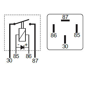 Make and Break Relay with Diode