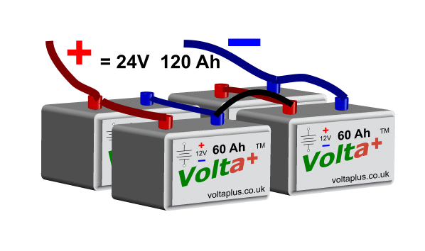 Batteries in Series and Parallel Example 2