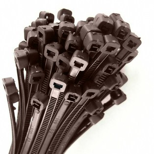 0-002-13 Pack of 100 Durite Brown Cable Ties 200mm x 4.8mm