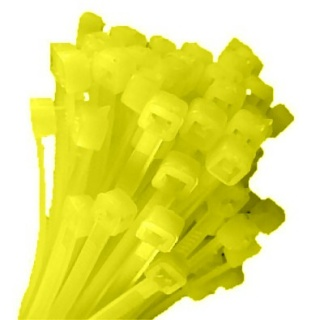 0-002-18 Pack of 100 Durite Yellow Cable Ties 200mm x 4.8mm