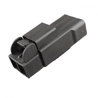 0-012-02 High Current Black Connector 2 Way 75A