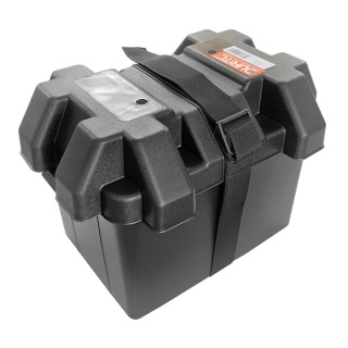 0-087-40 Black Moulded Plastic Standard Battery Box - Small