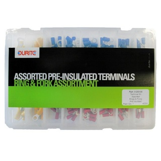 0-203-05 Durite Assorted Pre-insulated Ring and Fork Terminals