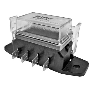 0-234-24 Durite 4 Way Standard Blade Fuse Box with Clear Cover