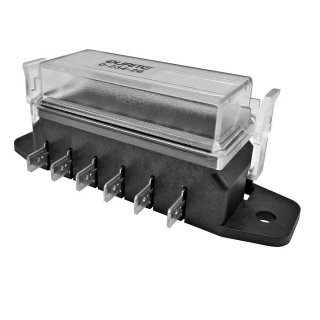 Durite 6 Way Standard Blade Fuse Box with Cover | Re: 0-234-26