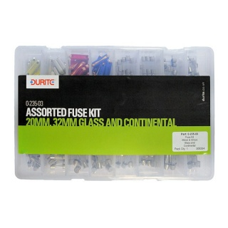 0-235-03 260 Durite Assorted 20MM, 32MM Glass and Continental Fuse Kit