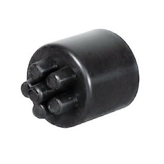 0-326-91 Pack of 10 PVC Conduit End Caps 13NW with 6 Cable Outlets