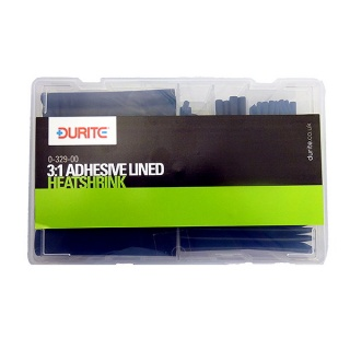 0-329-00 Durite 3:1 Black Adhesive Lined Heat Shrink Assorted Box