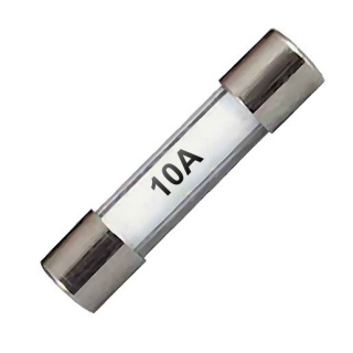 0-354-20 Pack of 10 25mm Standard Glass Fuses 10A
