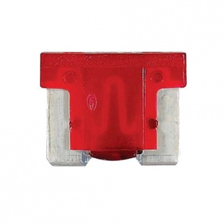 0-371-10 Pack of 10 Durite 10A Low Profile Mini Blade Fuse Red