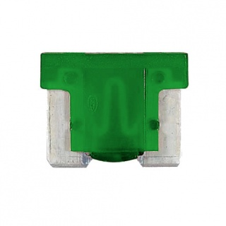0-371-30 Pack of 10 Durite 30A Low Profile Mini Blade Fuse Green