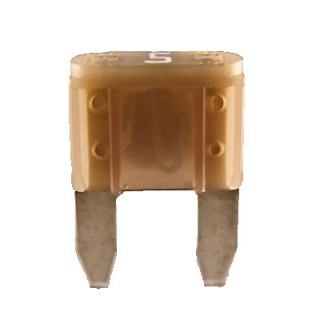 Durite 5A Tan Mini Blade or Spade Automotive Fuse | Re: 0-372-05