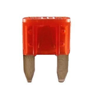 0-372-10 Pack of 10 Durite 10A Mini Blade Fuse Red