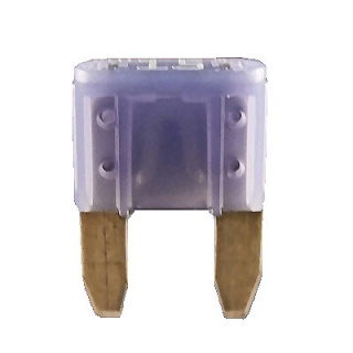 Durite 15A Blue Mini Blade or Spade Automotive Fuse | Re: 0-372-15