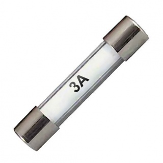 0-374-03 Pack of 10 32mm Standard Glass Fuses 3A