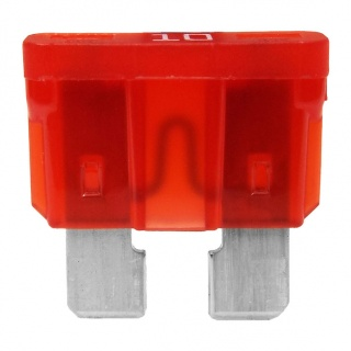 0-375-10 Pack of 10 Durite 10A Standard Automotive Blade Fuse Red