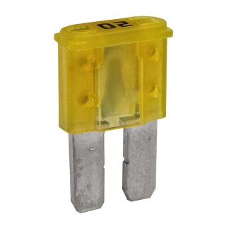 Durite 20A Yellow Micro 2 Automotive Blade Fuse | Re: 0-376-80