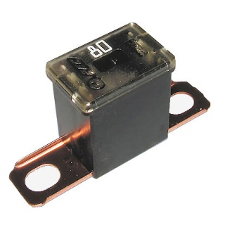 0-379-68 Black Male PAL Short Leg Automotive Fuse 80A