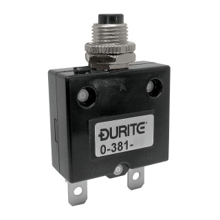 0-381-80 Durite 12V-24V Panel Mount Circuit breaker 30A