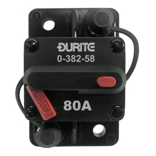 0-382-58 Durite 12V-24V DC 80A Manual Reset Circuit Breaker