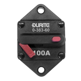 0-383-60 Durite 12V-24V DC 100A Panel Mounted Circuit Breaker