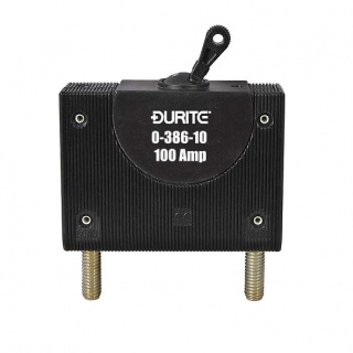 0-386-10 Durite Panel Mount Hydraulic Magnetic Circuit Breaker 100A
