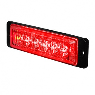 0-441-05 Durite 12V-24V DC Red High Intensity Slimline Warning Light