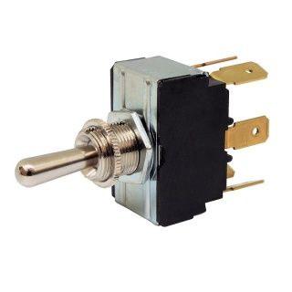 0-496-02 Momentary On Off Momentary On Double Pole Switch