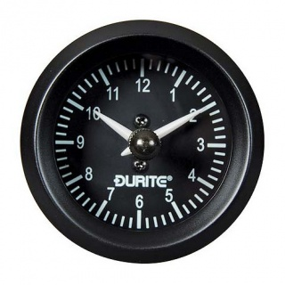 0-523-03 Durite 12V-24V Analogue Illuminated Clock 52mm Diameter