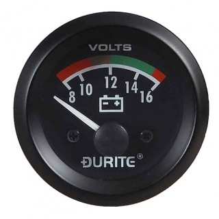 0-523-22 Durite 12V Illuminated Battery Condition Meter or BDI 52mm Diameter
