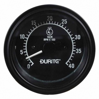 0-523-70 Durite 12V and 24V Illuminated 0 to 4,000rpm Tachometer 86mm Diameter