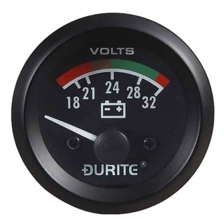 0-523-72 Durite 24V Illuminated Battery Condition Meter or BDI 52mm Diameter