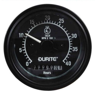 0-523-78 Durite 12V-24V 0 to 4,000rpm Tachometer and Engine Hour Counter