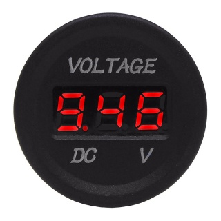 0-534-10 Durite 12V-24V Red LCD Battery Voltage Monitor