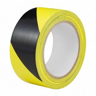 0-557-78 Durite Black-Yellow Adhesive Hazard Warning Tape 50mm