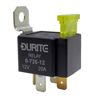 Durite 12V Fused 20A Mini Make and Break Relay | Re: 0-726-12
