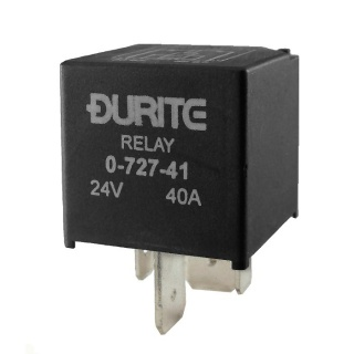 0-727-41 Durite 24V 40A Mini Heavy Duty Make and Break Relay Sealed Resistor