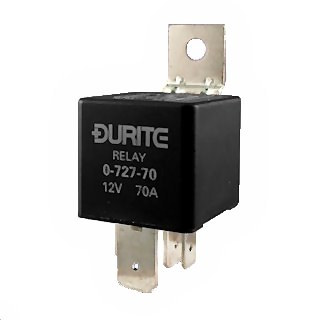 Durite 12V 70A Mini Heavy-Duty Make and Break Relay | Re: 0-727-57