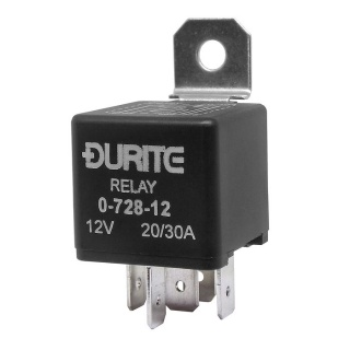 0-728-12 Durite 12V 20A-30A Mini Changeover Relay