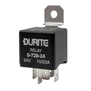 Durite 24V 10A-20A Mini Changeover Relay | Re: 0-728-24