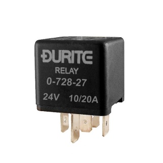 Durite 24V 10A-20A Changeover Relay with Sealed Resistor | Re: 0-728-27