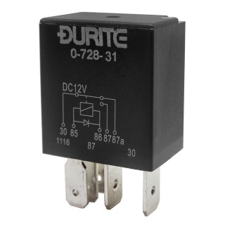 Durite 12V 20A-30A Changeover Relay with Diode | Re: 0-728-31