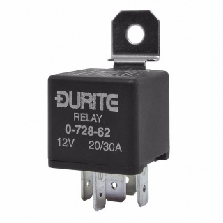 0-728-62 Durite 12V 20A-30A Mini Changeover Relay