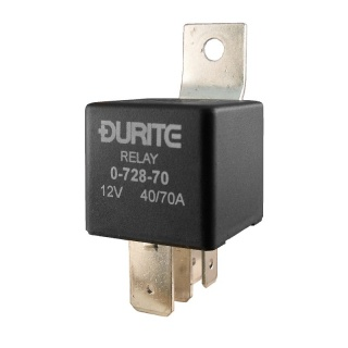 0-728-70 Durite 12V 40A-70A Mini Heavy Duty Changeover Relay