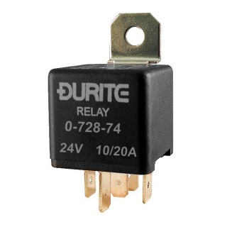 0-728-74 Durite 24V 10A-20A Mini Changeover Relay