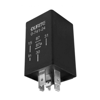 0-741-24 Durite 24V Pre-Programmed Pulse Input Timer Relay 3 Second Delay