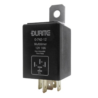 0-742-12 Durite 12V Adjustable Programmable Timer Relay