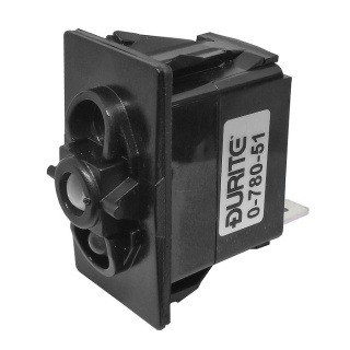 0-780-51 Durite Off-On SP LED Illuminated Rocker Switch Body 1 Lit Position