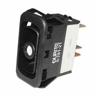 0-781-21 Durite Momentary On-Off Double Pole Rocker Switch Body One Lit Position